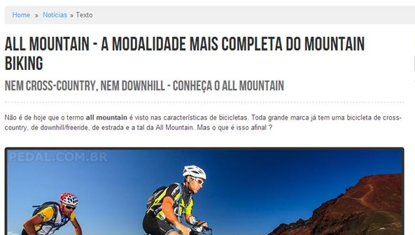 All Mountain no pedal.com.br